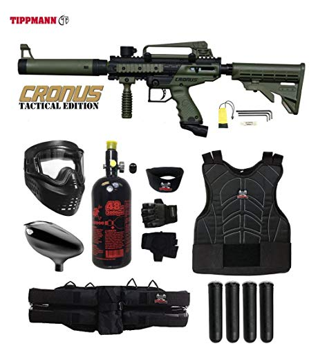 MAddog Tippmann Cronus Tactical Starter Protective HPA Paintball Gun Package - - Accessories Rail Proto