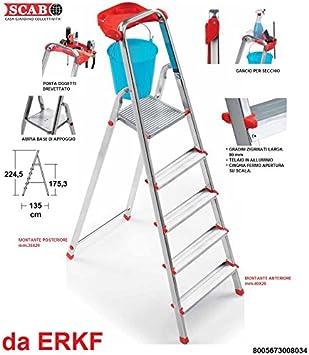 Escalera marca Scab Mod. Aluminio Piu a 8 peldaños Art. 803: Amazon.es: Bricolaje y herramientas