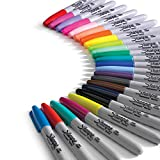 Sharpie Color Burst Markers, Fine Point, 24 Ct