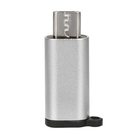 Mini Adaptador de Aluminio portátil USB-C a Micro USB con ...