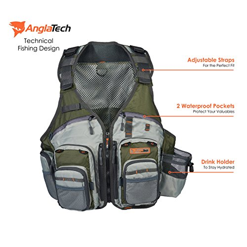 Anglatech fly fishing vest pack for trout gear and for Amazon fishing gear