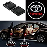 Bearfire 2 Pcs Wireless Car Door Led Welcome Laser Projector Logo Light Ghost Shadow Light Lamp Logos (Toyota)