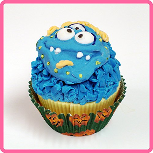 KATY SUE DESIGNS Cupcake Icing Sugar Paste Embellishment Topper Mould: Messy Monster Boy