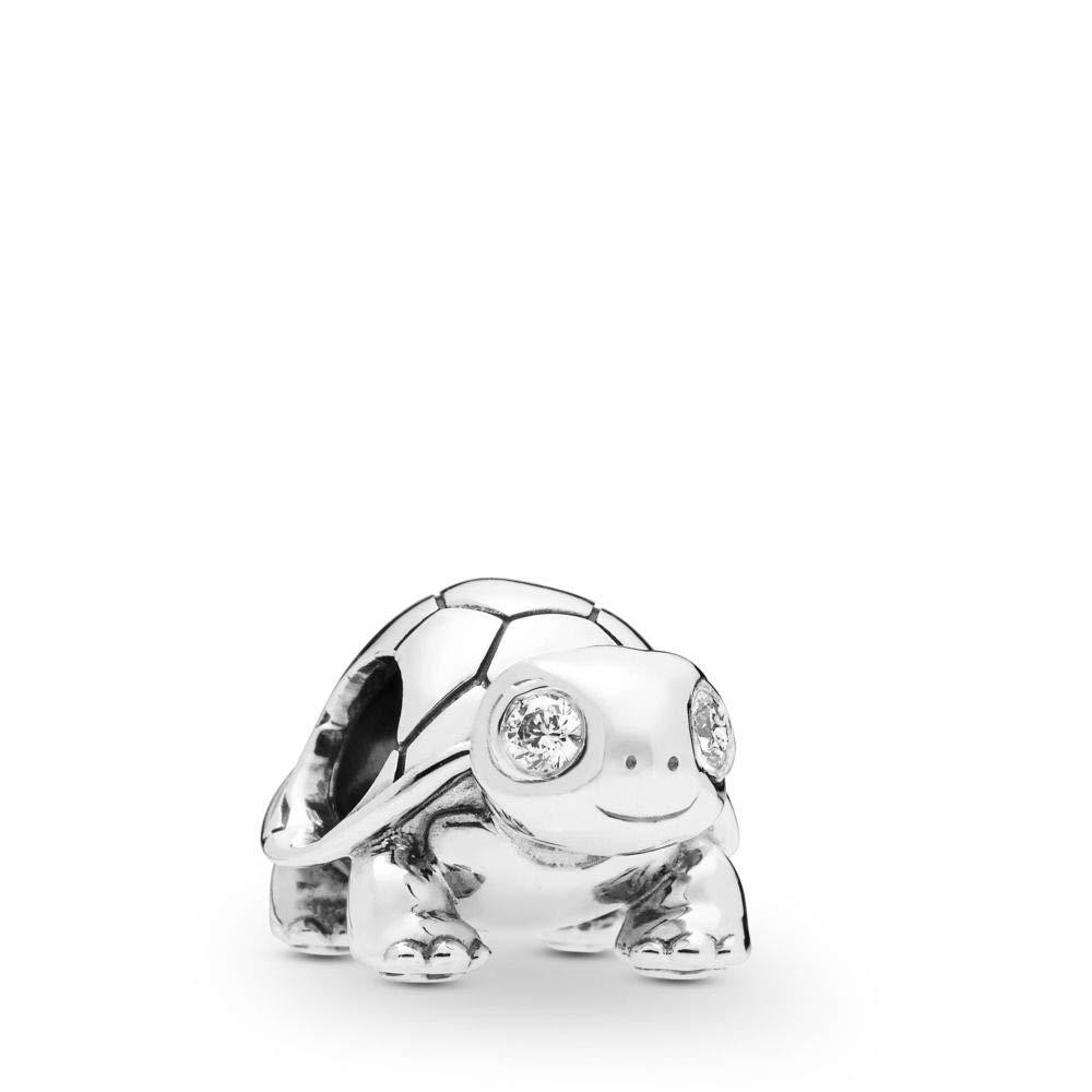 PANDORA Bright-Eyed Turtle 925 Sterling Silver Charm - 797878CZ