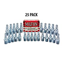Milton 777 1/4 Male A Style Plug-25 Pack