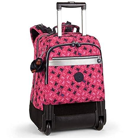 Kipling NEW RUNNER L - Mochila con ruedas, Mujer, Rosa - (Dark Pink