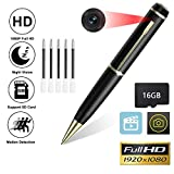 Hidden Camera Pen, HD 1080P Mini Portable Pocket Cam, Clip On Body Hidden Camera Security Pen Camera, Video Recording, Support Loop Recording, Suitable for Business and Conference