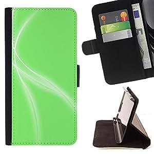 Kingstore / - Ondas Blancas En Verde - Samsung Galaxy S4 IV I9500
