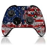 xbox window decal - (Tattered Flag) Custom Xbox One Controller with Exclusive Design Vinyl Skin Decal Uniquely Hand Painted and Air-Brushed