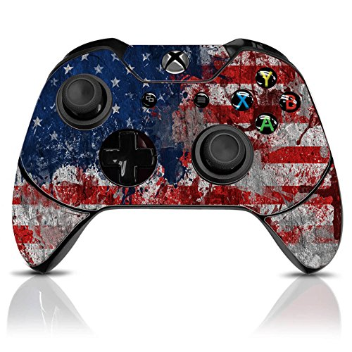 (Tattered Flag) Xbox One Modded Wireless Controller Custom Design w/Extreme Features: Rapid Fire, Auto Burst, Jump Shot, Auto Spot and more (Best Modded Controller Site)