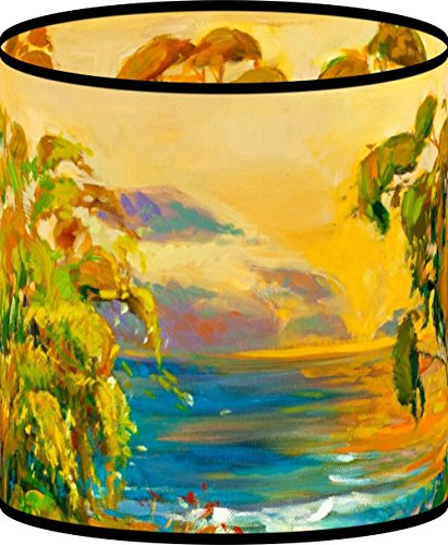 - LampPix 10.5 Inch Custom Printed Table Desk Lamp Shade Weeping Willows at Sunset (Spider Fitting)