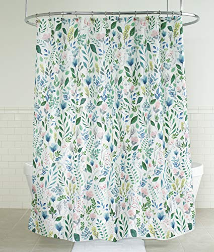 (Splash Home 71SIAFL/FPMLTSPL Sia Floral Polyester Fabric Shower Curtain, 70