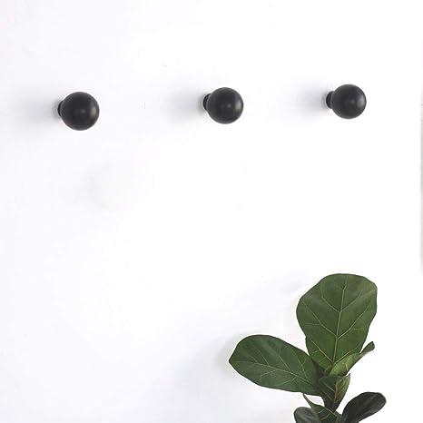 anaan Mushroom Diseño Perchero Pared Negro Colgador Abrigos Redondo Gancho Pared Madera Pasillo Moderno Decorativo nordico también para niños (Juego ...