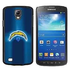 Asaltante- Metal de aluminio y de plástico duro Caja del teléfono - Negro - Samsung i9295 Galaxy S4 Active / i537 (NOT S4)