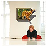 Best EmiracleZe Books For Toddlers 2 To 4 Yrs - EMIRACLEZE Christmas Gift 3d Style Tiger Vivid Removable Review