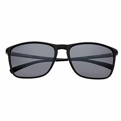 02d3f2a8b Amazon.com : Zippo Black Polarized Rectangular Sunglasses : Sports ...