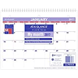 "AT-A-GLANCE Wall Calendar 2017, Monthly, 11 x 8-1/2"", Unruled (PM170-28)"