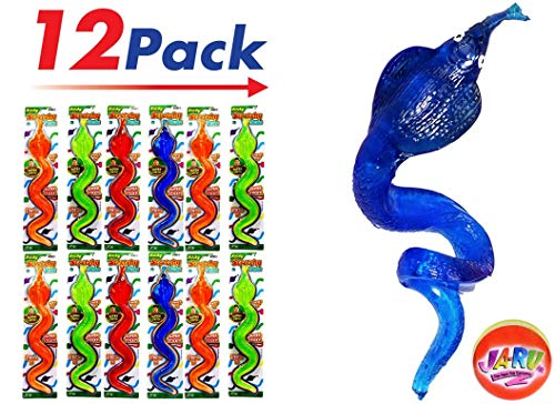 JA-RU Giant Stretchy Sticky Snake (Pack of 12) and one Bouncy Ball | Item -