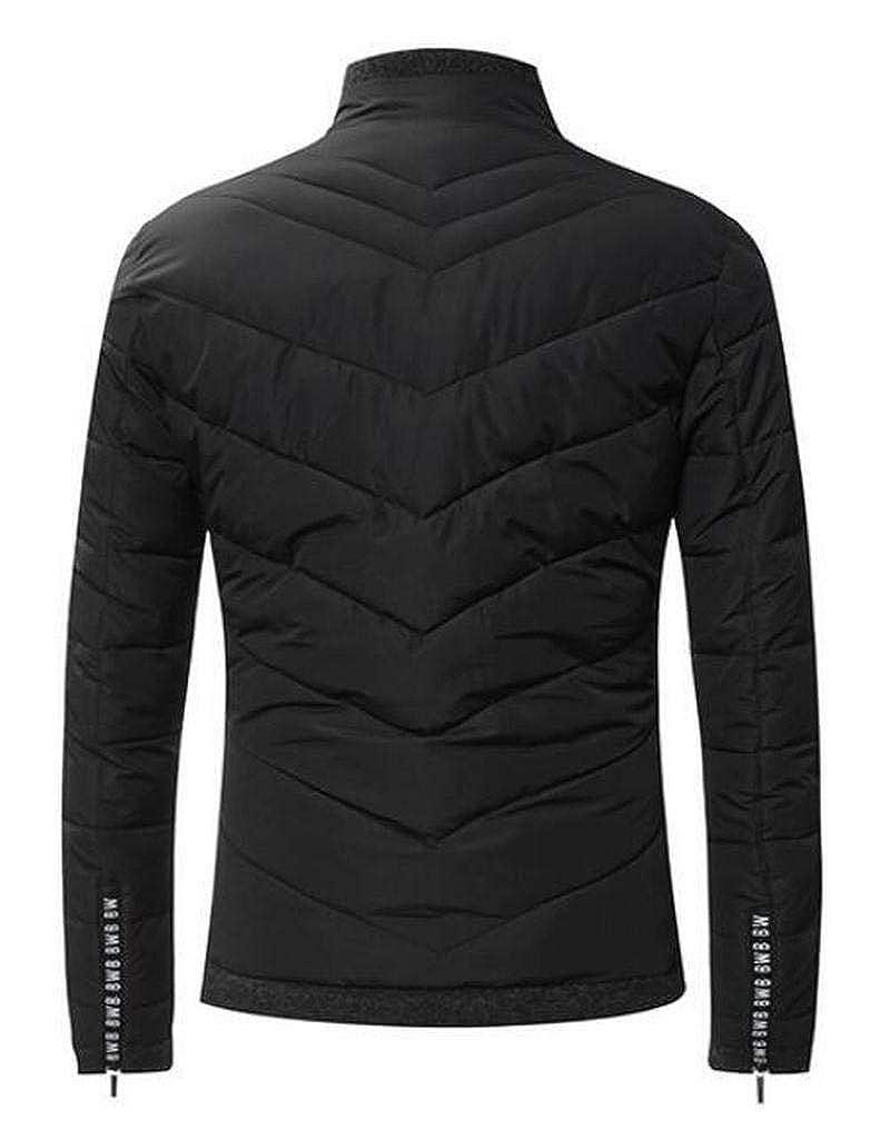 Fubotevic Mens Lightweight Zip Up Winter Warm Regular Fit Down Puffer Jacket Coat Outwear