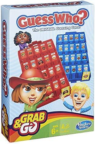 Hasbro- Guess Who Grab and Go Juego de Viaje, versión alemána, Color Azul, Rojo (B1204100): Amazon.es: Juguetes y juegos