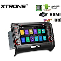 XTRONS HDMI Android 7.1 Quad Core 7 Inch HD Digital Touch Screen Car Stereo Radio DVD Player GPS for Audi TT