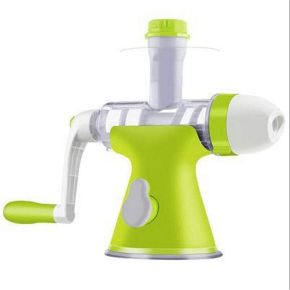 YVX Multifunction Hand Juicer Citrus Juicer Orange Lemon Squeezer Wheatgrass Juicer Hand Crank Operation (Color : Green, Size : Free Size)