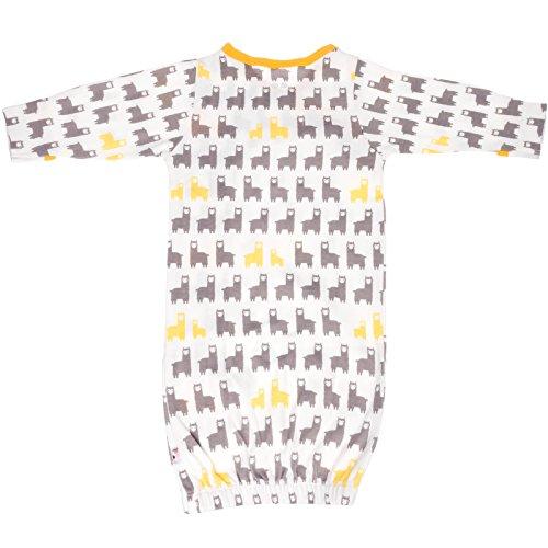 Babysoy Organic Cotton Pattern Kimono Bundler Gown (Llama ...