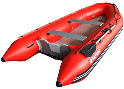 Amazon.com: Saturn bote inflable rojo (13pies): Sports ...