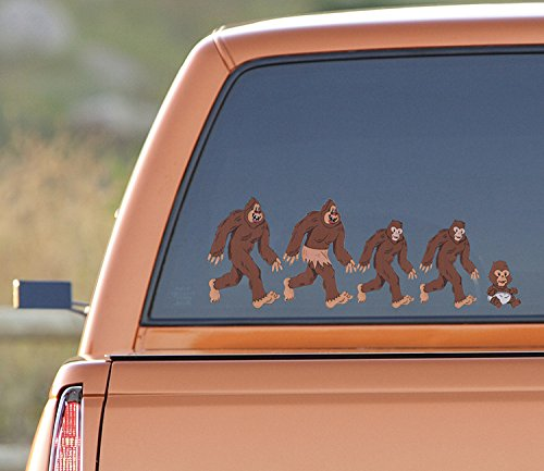 Bigfoot Sticker Family  Full Color  Sasquatch Sticker - Bigfoot Decal for cars, skateboards, laptops - Bigfoot Vinyl Decals  Funny Sasquatch Sticker  Bigfoot Yeti Decal Funny Bigfoot Family Decals