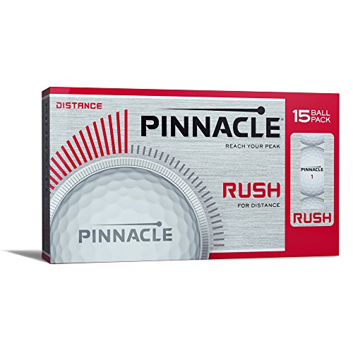 Pinnacle Rush Golf Balls  White  15 Ball Pack