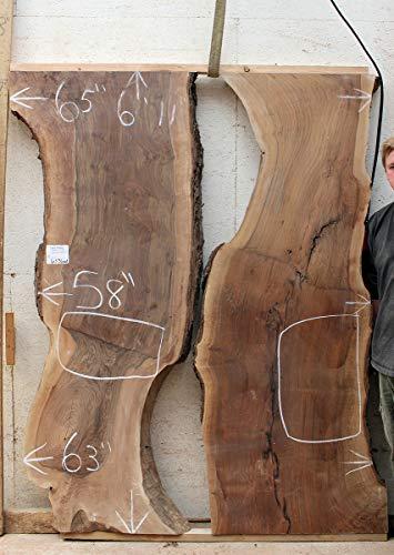 (River Table Claro Walnut Wood Slab Kitchen Island Custom Tabletop Live Edge Rustic Furniture DIY 6536m1)