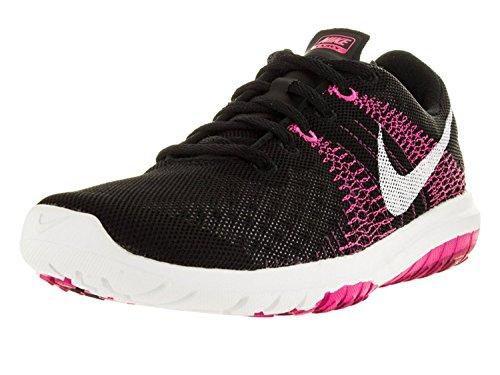 Nike Womens Flex Fury Running Shoes, Black/White/Pink Foil/Sprt Fchs, 41 B(M) EU/7 B(M) UK