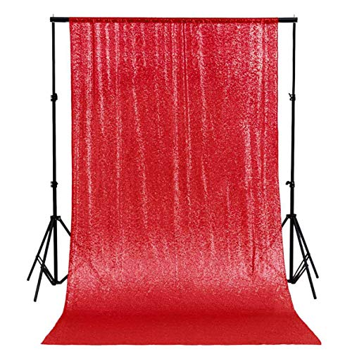 - ShinyBeauty 20FTx10FT-Red-Sequin Backdrop, for Party or Wedding Sequin Photo Booth Backdrop,Wedding Backdrop, Photo Backdrop,Glitz Backdrop,Sequin Curtains