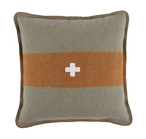 Swiss Army Pillow Cover 28x28 Grey/Orange ()