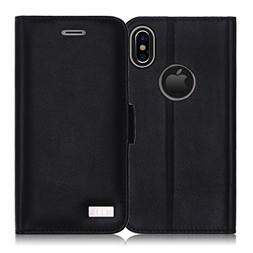 iPhone X Case, iPhone X Wallet Case, FYY for iPhone X Black