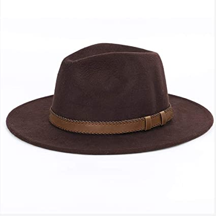 1c94f258e5c HXGAZXJQ Wide Brim Fedora Winter Autumn Imitation Woolen Women Men Ladies  Fedoras Top Jazz Hat European