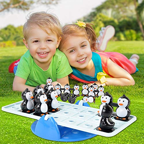 Penguins Seesaw Toy, Educational Balance Toy 8.66 2.20 8.27inch Plastic Parent-Child Interactive Toys for Children Gift