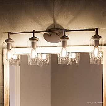 Vintage Mid Century Bathroom Sconce Fixture Vanity Sink Light FLOWER Display NOS