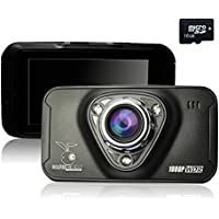 GolferCam GT1 Dash Cam Full HD 1080P Night Vision 170 Degree Wide Angle 2.7 Dash Camera With 16G TF Card Included,WDR,SOS,Snap Shot,Cycle Recording,G-sensor,Motion Detection,Plate Stamp,Time Lapse