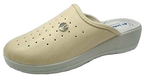INBLU Pantofole SANITARIE da Donna MOD. 40-32b Naturale  Amazon.it ... 097f51e2855