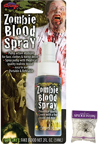 Potomac Banks Bundle: 2 Items - Zombie Blood Spray and Free Spider Web -