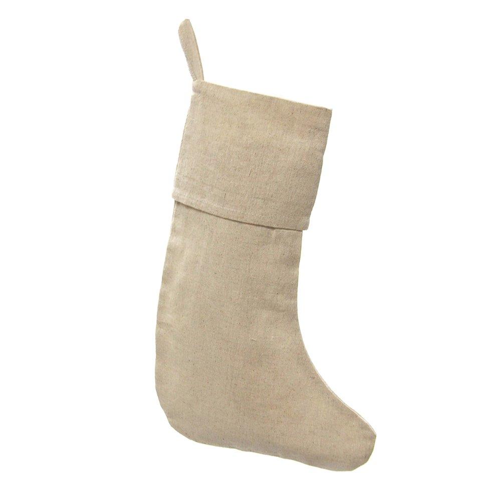 Homeford FHV000B99902_06X Linen Plain Christmas Stockings (6 Pack), 16''