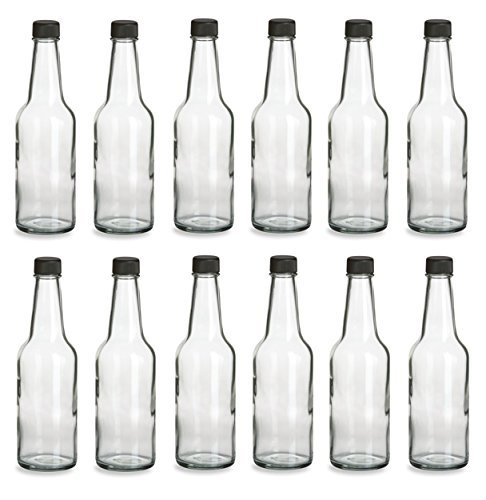 Nakpunar 10 oz Glass Bottles for Soda, Beverage, Sauces (without orifice)- Case of 12 12 Oz Long Neck Bottle