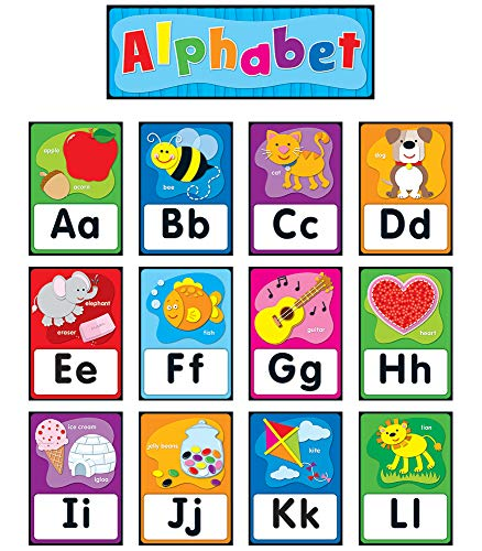 Carson Dellosa Alphabet Bulletin Board Set (119004) (Bright Bulletin Boards Cd)