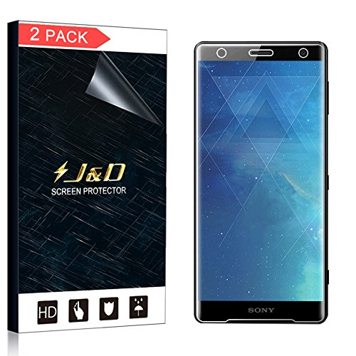 J&D 2-Pack Xperia XZ2 Screen Protector (Not Glass), Soft Skin [No Lifted Edges] [Bubble Free] HD Clear Screen Protector for Sony Xperia XZ2 - [Not Compatible with Sony XZ2 Compact/Sony XZ2 Premium]