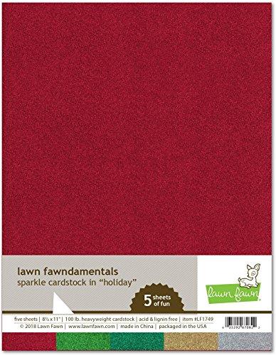 Lawn Fawn LF1749 Sparkle Cardstock - Holiday Lawn Fawndamentals