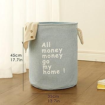 53988b28f0ba ... Bag Large Organizer Washing Clothes Basket Horse 40   50Cm Waterproof  Canvas Beam Bin Save Space Box