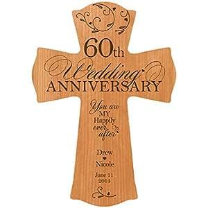 Amazon.com: Personalizado 60 Aniversario de boda madera ...