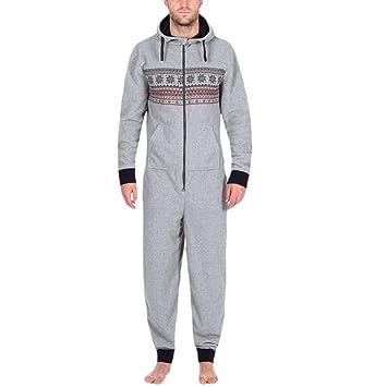 pijama hombre mono, Sannysis mono de trabajo para hombre camisetas manga larga invierno dobla camisetas