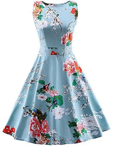 VKStar - Vestido - para mujer azul claro